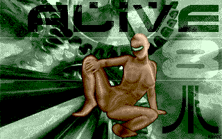 ALIVE mag issue 8 title: 320x200 16 colors