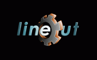 Lineout logo: 320x200 256 colours